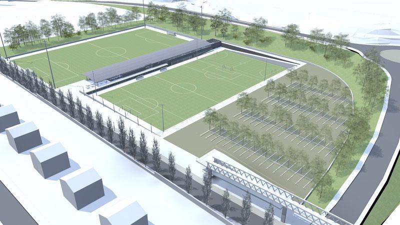 Instalaciones Ampliación Campo de Futbol Gradas y Vestuarios Abrera